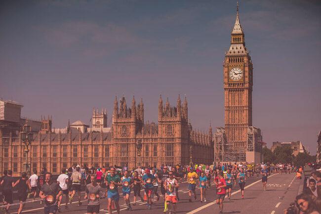 ASICS London 10K 2019 - three runners sponsored Children of Colombia