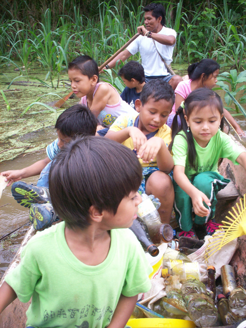 The Natutama Foundation is a Colombian NGO working with indigenous communities along the River Amazon near Puerto Narino.