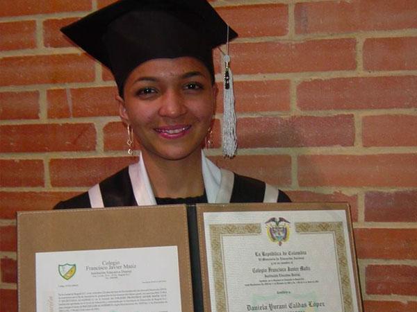 Fenix student Daniela's graduation day in Bogota, Colombia, S America