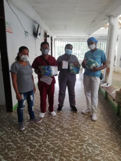 Natutama and Fenix workers source and distribute medical supplies to families in the Colombian Amazon hit by Covid-19