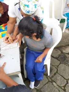 Personal care and individual attention for each disabled child at Luz y Vida children's home in Bogota
