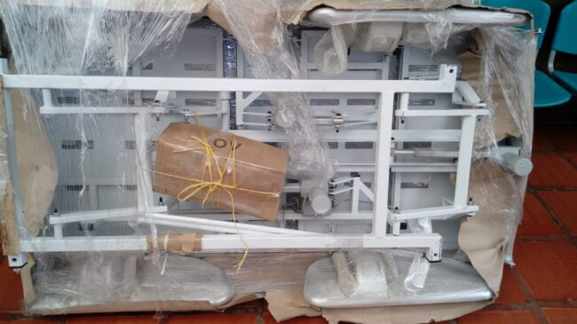New electric hospital style beds bought thanks to donations from Children of Colombia